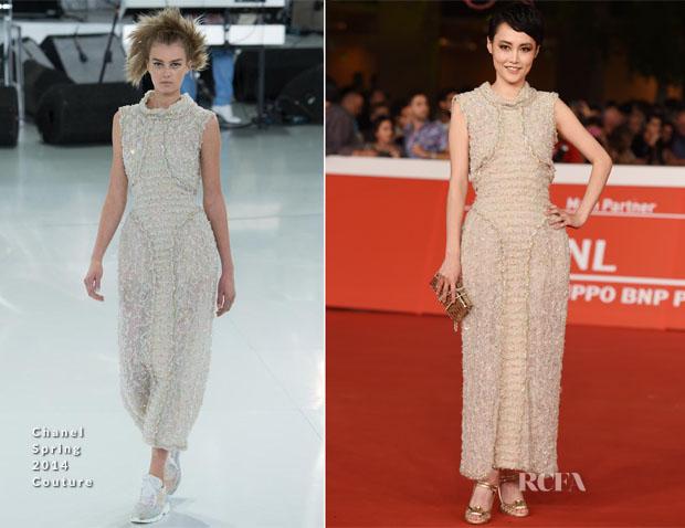 Rinko Kikuchi In Chanel Couture - 'Last Summer' Rome Film Festival Premiere