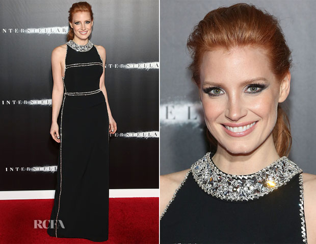 Jessica Chastain In Prada - 'Interstellar' New York Premiere