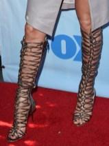 Jennifer Lopez' Sophia Webster Clementine strappy to-the-knee gladiator sandal boot