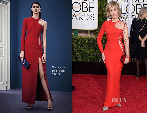 Jane Fonda In Versace - 2015 Golden Globe Awards