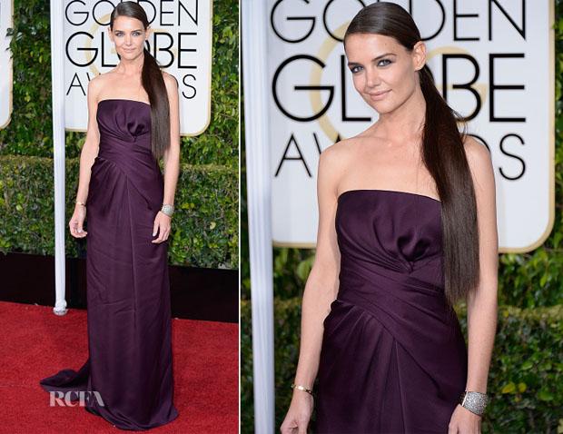 Katie Holmes In Marchesa - 2015 Golden Globe Awards