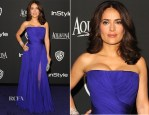 Salma Hayek In Gucci Première - 2015 InStyle and Warner Bros. Golden Globe Awards Post-Party