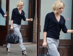 Sienna Miller In Chinti and Parker & Belstaff - Out In New York City