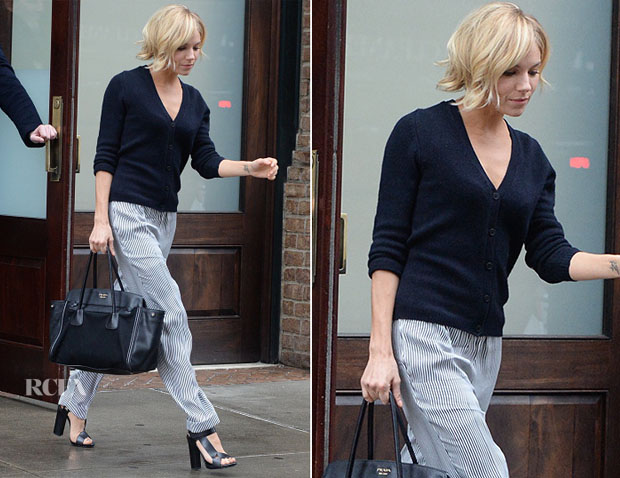Sienna Miller In Belstaff - Out In New York City