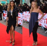 Alesha Dixon In RED Valentino & Balenciaga & Amanda Holden In Balenciaga - Britain's Got Talent London Auditions