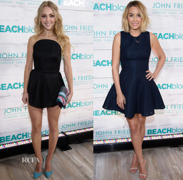 AnnaSophia Robb In Alice McCall & Lauren Conrad In Lela Rose - John Frieda Hair Care Beach Blonde Collection Party