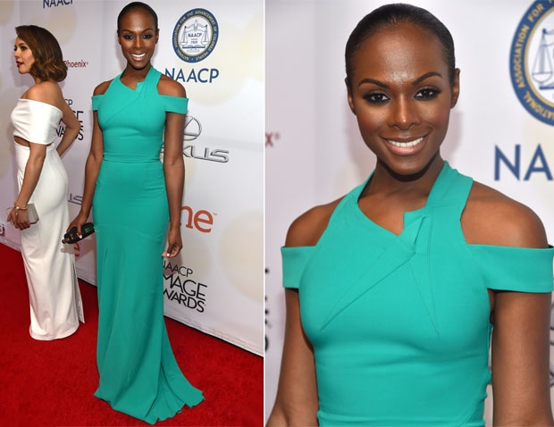 Tika Sumpter In Roland Mouret - 2015 NAACP Image Awards