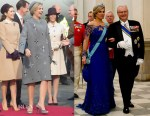 Queen Máxima of the Netherlands In Claes Iversen & Jan Taminiau  - Denmark State Visit Arrival and Dinner
