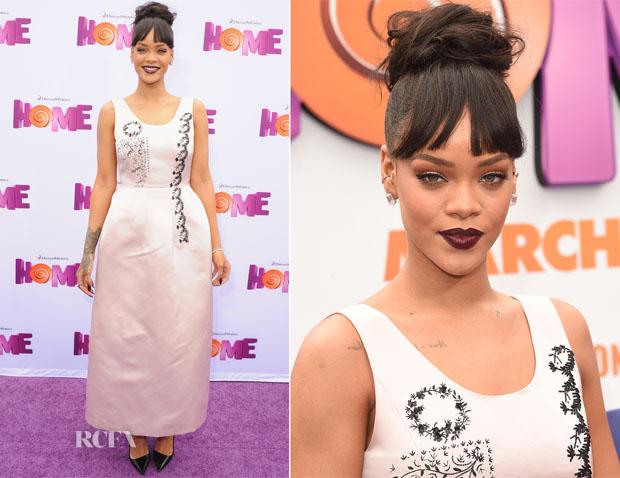 Rihanna In Christian Dior - 'Home' LA Premiere2