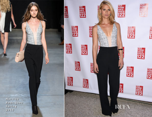 Claire Danes In Narciso Rodriguez - Performance Space 122 2015 Spring Gala Honoring Claire Danes