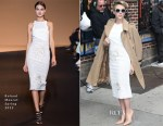 Scarlett Johansson In Roland Mouret - Late Show With David Letterman