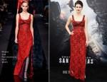 Alexandra Daddario In Diane von Furstenberg - 'San Andreas' LA Premiere