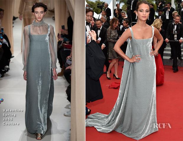 Alicia Vikander In Valentino Couture - Macbeth' Cannes Film Festival Premiere