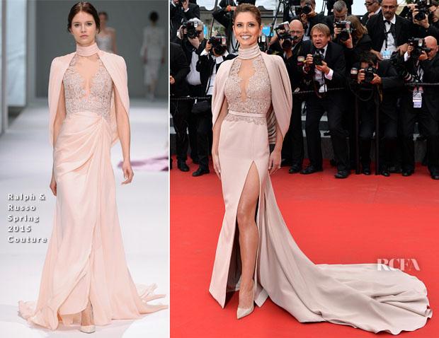 Cheryl Fernandez-Versini In Ralph & Russo Couture - 'Irrational Man' Cannes Film Festival Premiere