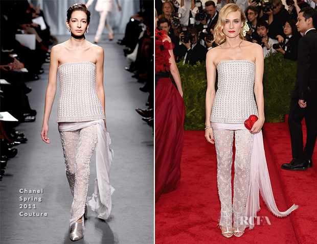 Diane Kruger In Chanel Couture - 2015 Met Gala