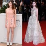 Mackenzie Foy In RED Valentino & Oscar de la Renta - 'The Little Prince' Cannes Film Festival Photocall & Premiere