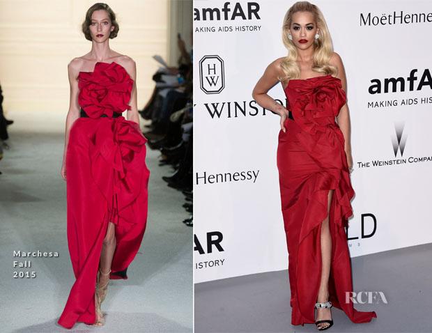 Rita Ora In Marchesa - 2015 amfAR Cinema Against AIDS Gala