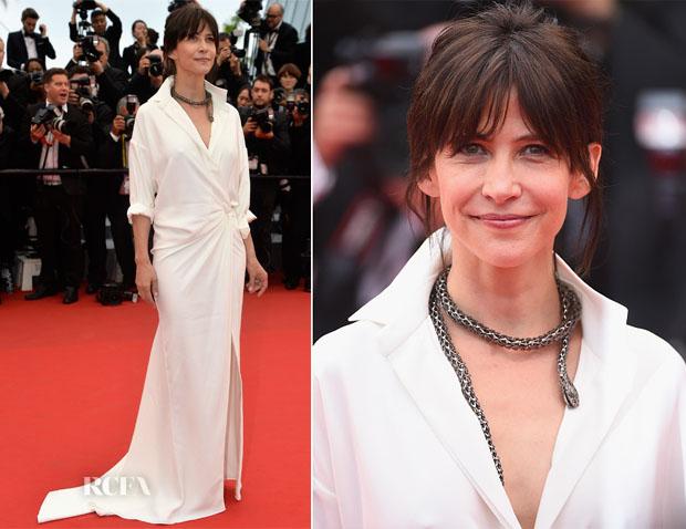 Sophie Marceau In Alexandre Vauthier Couture -  'Mad Max Fury Road' Cannes Film Festival Premiere