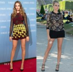 Cara Delevingne In Mary Katrantzou, Jenny Packham & Elie Saab - 'Paper Towns' Berlin & Paris Photocalls