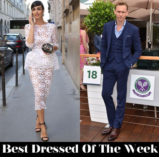Best Dressed Of The Week - Paz Vega In Ralph & Russo Couture & Tom Hiddleston in Ralph Lauren Purple Label