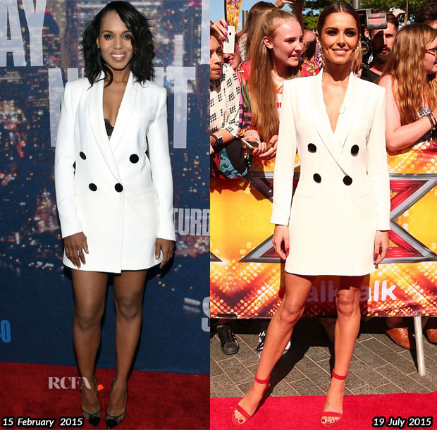 Who Wore Adam Lippes Better Kerry Washington or Cheryl Fernandez-Versini