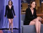 Kristen Stewart In Diane von Furstenberg - The Tonight Show Starring Jimmy Fallon