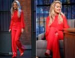 Rita Ora In Max Mara - Late Night With Seth Myers