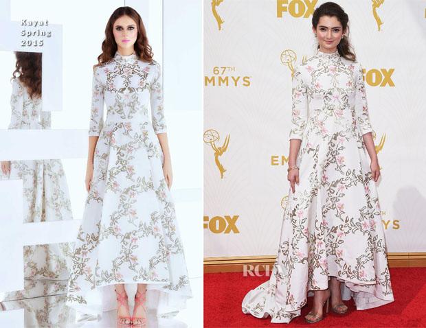 Emily Robinson In Kayat - 2015 Emmy Awards