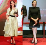 Rebecca Ferguson In Christian Dior Couture & Victoria Beckham - 'Mission Impossible: Rogue Nation' Asia Promo Tour