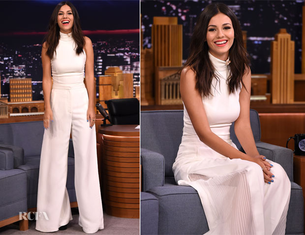 Victoria Justice In Misha Collection and Sass & Bide - The Tonight Show Starring Jimmy Fallon