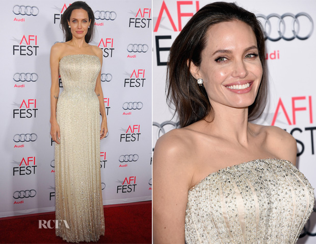 Angelina Jolie In Atelier Versace - 'By the Sea' AFI FEST 2015 Opening Night Premiere 2
