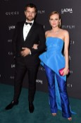 Joshua Jackson in Gucci and Diane Kruger in Monique Lhuillier