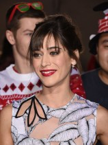 Lizzy Caplan in Thakoon