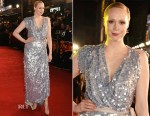 Gwendoline Christie In Vivienne Westwood Couture - 'The Hunger Games: Mockingjay – Part 2' London Premiere