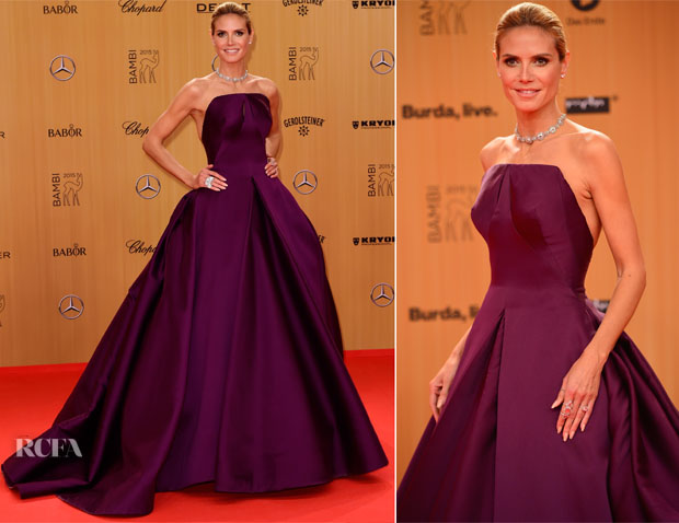 Heidi Klum In Zac Posen - 2015 Bambi Awards