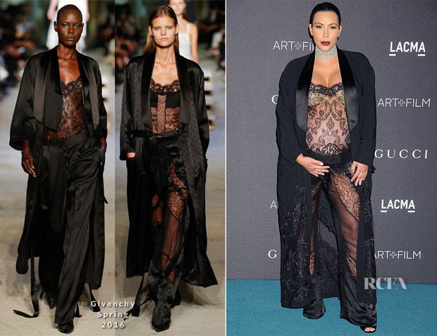 Kim Kardashian In Givenchy S16 - LACMA 2015 Art+Film Gala
