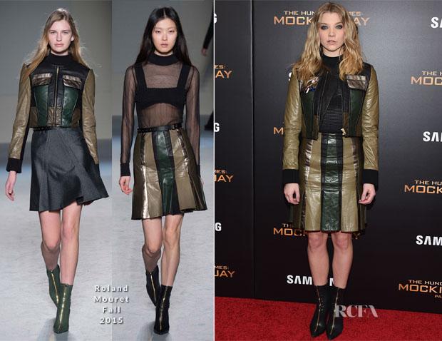 Natalie Dormer In Roland Mouret - 'The Hunger Games Mockingjay - Part 2' New York Premiere