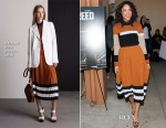 Tessa Thompson In Michael Kors -  'Creed' Mural Unveiling