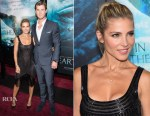 Elsa Pataky In Naeem Khan & Chris Hemsworth In Dior Homme - 'In The Heart Of The Sea' New York Premiere