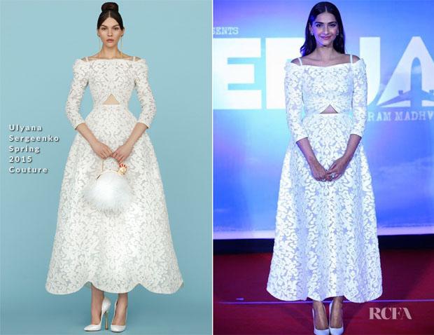 Sonam Kapoor In Ulyana Sergeenko Couture -  'Neerja' Trailer Launch