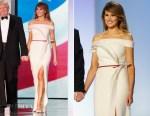 Melania Trump In Hervé Pierre - Inauguration Balls