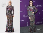 Lily Collins In Alexander McQueen - 19th Costume Designers Guild Awards