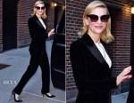 Cate Blanchett In Giorgio Armani - The Late Show with Stephen Colbert
