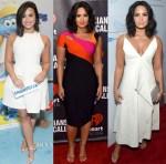 Demi Lovato In Jill Jill Stuart, Mugler & Valentino - 'Smurfs: The Lost Village' Promo Tour