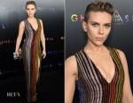 Scarlett Johansson In Balmain - 'Ghost In The Shell' New York Premiere