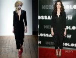 Anne Hathaway In Vivienne Westwood Red Label - 'Colossal' LA Premiere