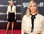 Charlize Theron In Gucci - 'Fast & Furious 8' Madrid Photocall