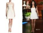 Jenna Dewan-Tatum's Monique Lhuillier strapless boucle dress