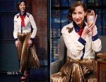 Kristen Schaal In Gucci - Late Night with Seth Meyers