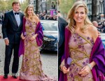 Queen Maxima In Jan Taminiau - King Willem-Alexander of The Netherlands Birthday Party